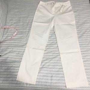 Women's white cotton straight leg pants-NWT